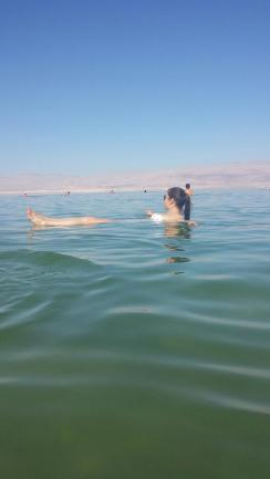 29a.Floating in The Dead Sea
