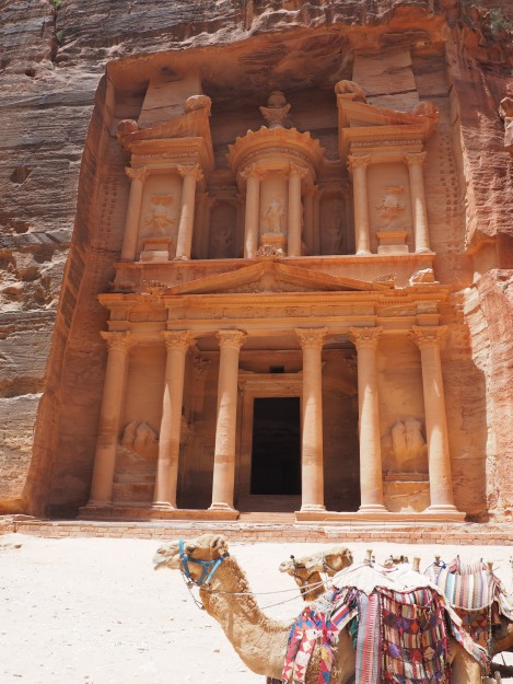50.Petra.Camels at the Treasury (2)