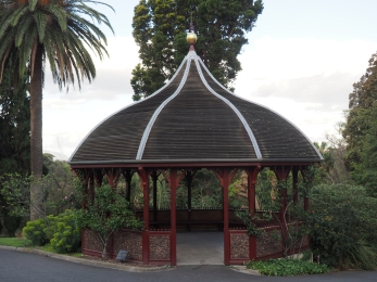 A resting place in the Royal Botanical Gardens.