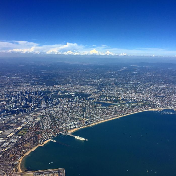 Beautiful Melbourne from the air